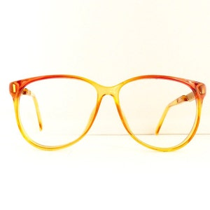 f87b5abbb89a Christian Dior Eyeglasses Frames    Women s 1990 s   Orange Yellow Fade Out  with Gold Frames    Made in Germany   Model 2334   M160 DIVINE