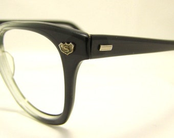 Superman wore these Two Tone Eyeglasses 1950s 60s Buddy Holly watch out,Safety Supply Brand