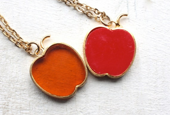 1960s Apple Necklace's // An Apple A Day NY Big Ap