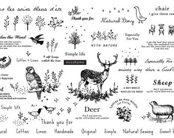 We are in Nature, Fabric Stickers, U2334