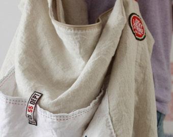 A Yard of Linen Oxford White Oatmeal, U2500