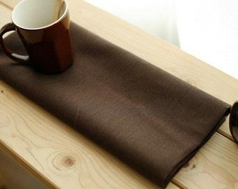 SALE, A Yard of De Chocolate Linen Blended WIDE 152cm, U1983