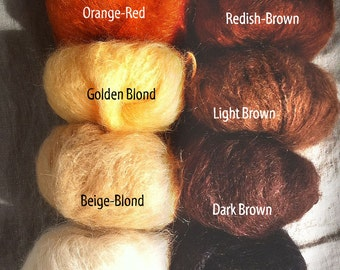Brushable Mohair for Waldorf Doll Hair, Natural Cloth Doll, Natural Crafting