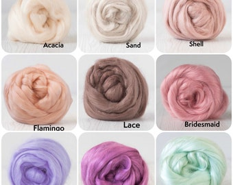 Viscose Roving  - 100 grams (3.5oz) - 49 colours available