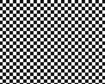 Taste The Experience - Row by Row 2019 - Check - Black & White Check  Fabric By The Yard Ships 1 Business Day BACK IN STOCK
