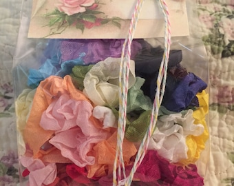 """Crinkled Seam Binding 10 Yards(30 Feet)""""""""You Pick Color-Most Popular"""" 26 Colors To Choose From""""-By Not Too Shabby"""
