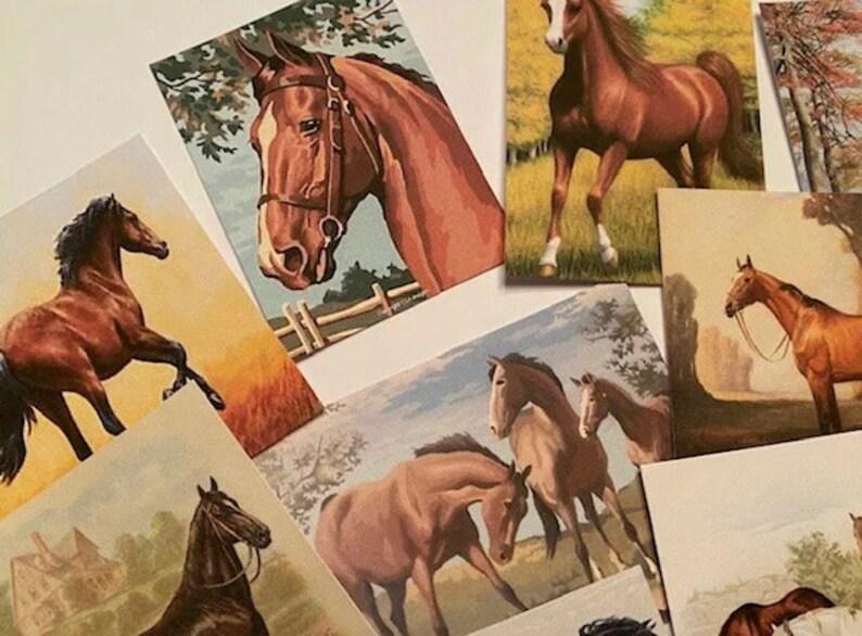 Vintage Style HorseHorses CARDSDIE CUTSGift Tags 24 Piece-12 Styles-Junk Journals-Journal supply-Card Making
