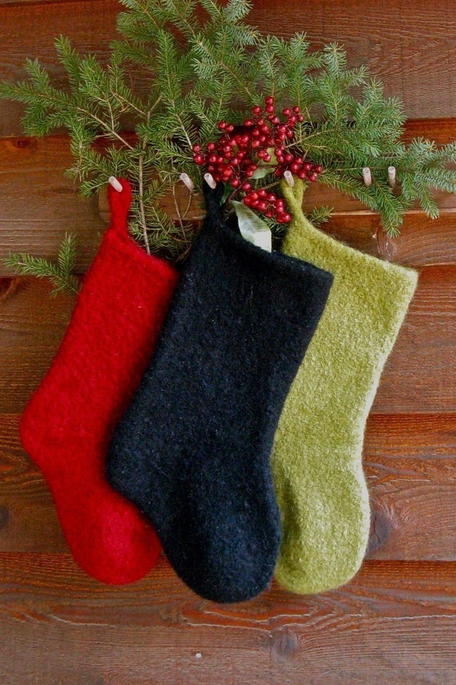 Felted Christmas Stocking Instant Download Knitting Pattern | Etsy