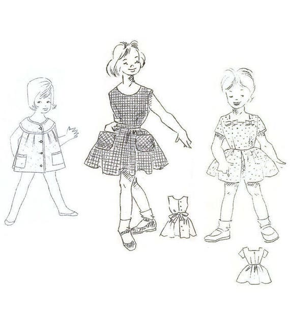 Lot Of 3 1950s Little Girls Dress Sewing Patterns 3 5 Years