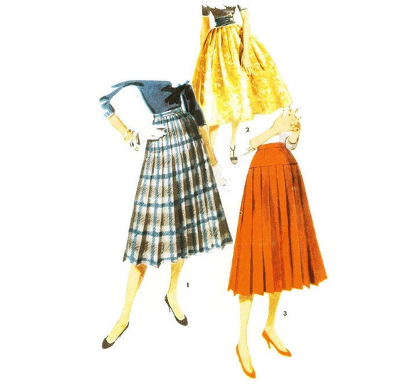 40s Full Skirt Pleated Skirt Pattern Simplicity 40 W40 H40 Etsy Classy Full Skirt Pattern