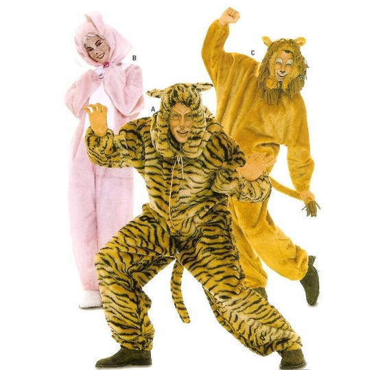 Hase Tiger Löwe Kostüm Schnittmuster Burda 3576 Unisex S M L | Etsy