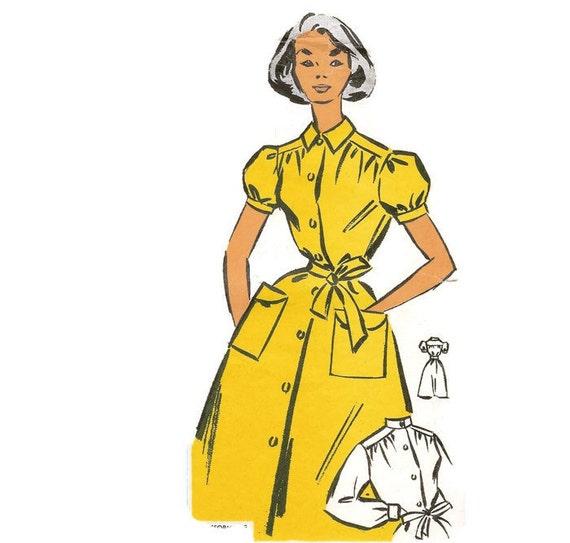 1950er Jahre Schürzenkleid Hauskleid Schnittmuster Patron