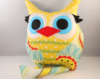 Handmade Owl Pillow Plush Stuffed Toy b e l l a m i n a' s owl pillow