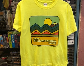Keep Colorado Springs Lame- Super Lame Retro 1970s 1980s Short Sleeve T-shirt