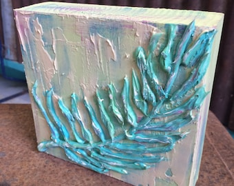 3D Art Block Feather Original Art