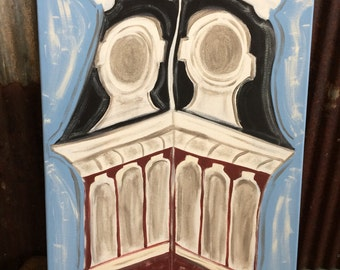 Old Main Tower Original Painting on Canvas