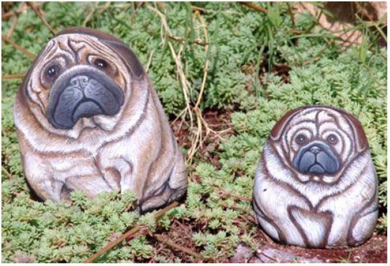 Rock Painting Tutorial  How to Paint on Rock a Pug Dog  Easy image 0