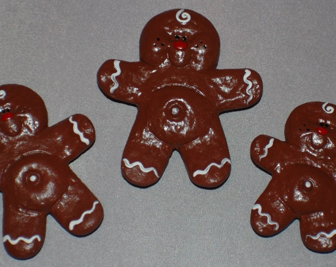Gingerbread Cookie Magnets - set of 3