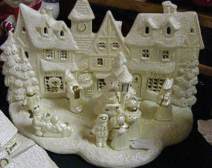Ready to Paint (unpainted) Victorian Christmas Village