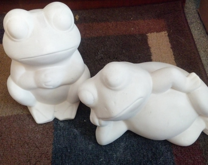 Ready to Paint Frog Set