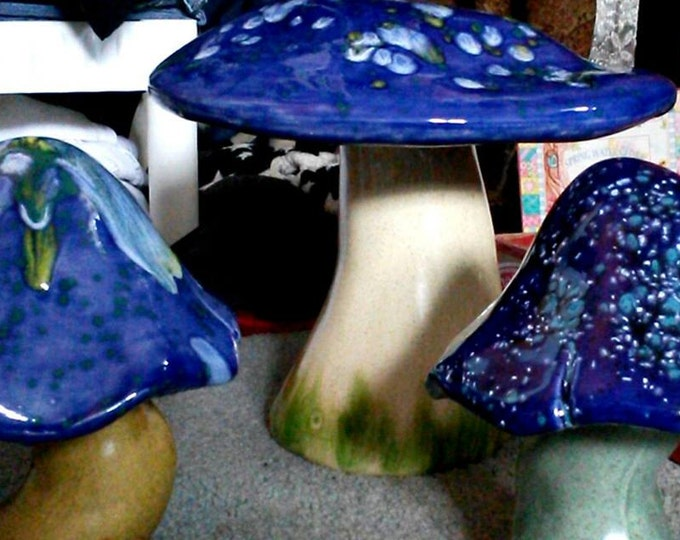 Ceramic Garden Mushrooms - Set of 2