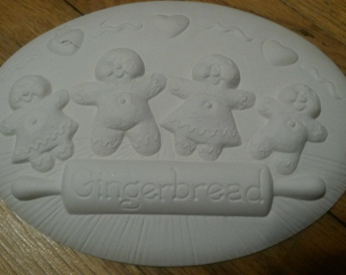 Ready to Paint Gingerbread Insert
