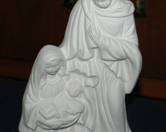 Ready to Paint Holy Family Statue