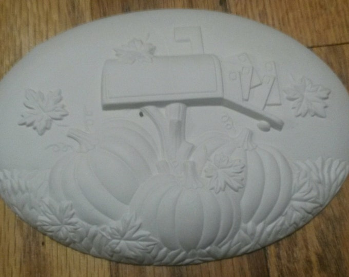 Ready to Paint Fall Mailbox Insert