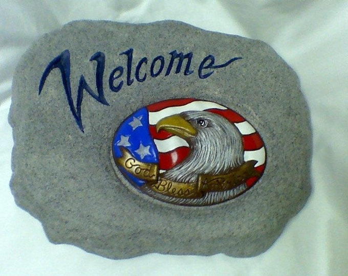 Ceramic Welcome Stone with Insert