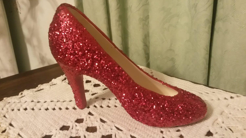 89578cb077d8 Glitter Ceramic High Heel Shoes