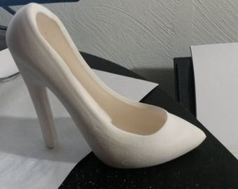 Ready to Paint High Heel Shoe - SMALL