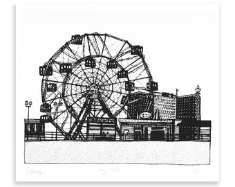 Coney Island Limited Edition Screen Print