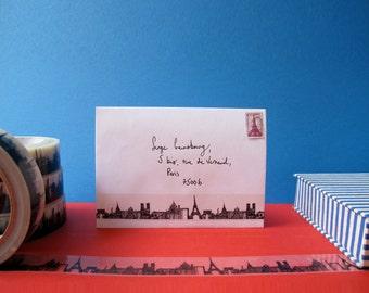 Paris Skyline Decorative Sticky Tape (25mm)