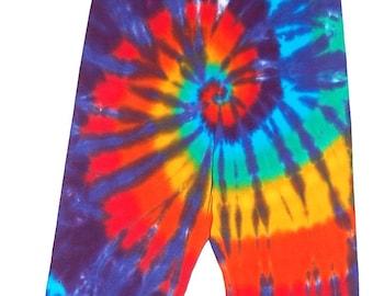 TIE DYE Kids Leggings Classic Rainbow sizes 6m 12m 18m 2T 4T 6 8 10 12 Psychedelic Tye Dye long johns Grateful Dead hippe gypsy
