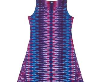 0886490cf81 TIE DYE Dress Purple DNA Psychedelic Tye Dye Women s Tank Top Dress hippie  gypsy sm med lg xl 2x 3x Grateful Dead