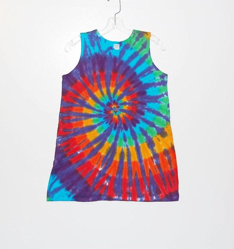 7e912b14e81 TIE DYE Dress Rainbow Spiral Tye Dye Girl s Tank Top