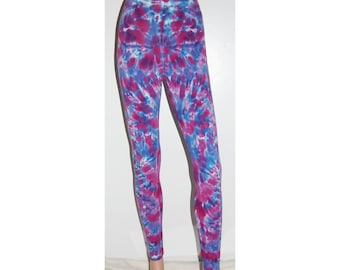 TIE DYE Leggings Purple Blotter Psychedelic Tye Dye American Apparel Spandex Tights small medium large xl Grateful Dead hippie boho gypsy