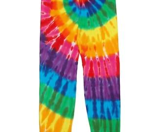 TIE DYE Kids Leggings Rainbow PinWheel Psychedelic sizes 6m 12m 18m 2T 4T 6 8 10 12 Tye Dye long johns Grateful Dead hippie boho gypsy