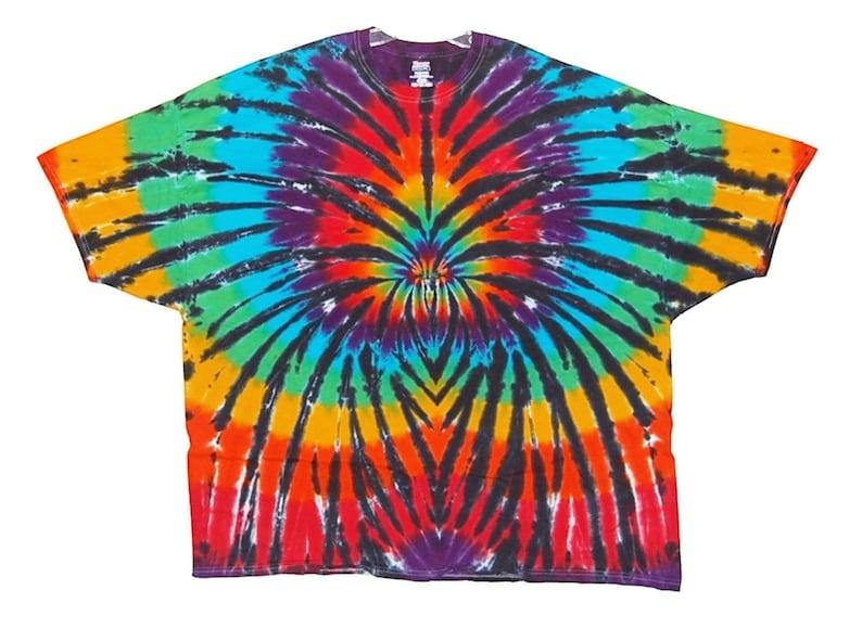76b4c4ae Rainbow Tie Dye T-Shirt Rainbow Spider Psychedelic Tye Dye | Etsy