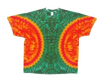 Tie Dye Shirt Funky Rasta )( Blotter Psychedelic Adult T-shirt small medium large XL 2X 3X 4X 5X 6X Grateful Dead short sleeve Tye Dye art
