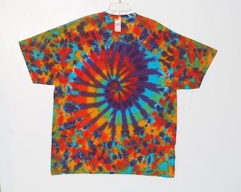 Rainbow Tie Dye Shirt Spiral Blotter Adult T-shirt small medium large XL 2x 3x 4x 5X 6X Grateful Dead short sleeve psychedelic Tye Dye