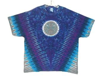 Psychedelic Tie Dye Shirt Blue Moon V Blotter Grateful Dead Tye Dye short sleeve Adult T-Shirt Small Medium Large XL 2X 3X 4X 5X 6X