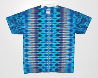 TIE DYE Kids Shirt Blue DNA Tye Dye T-Shirt Youth sizes 2-4T xs 6-8 Small 10-12 Medium 14-16 Large Grateful Dead