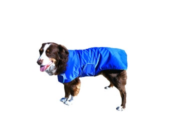 Ultra Dog Raincoat, dog coat, custom dog coat, ultrex dog coat with chest strap for your dog, waterproof dog coat