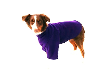 Ultra Fleece Dog Sweatshirt, custom dog coat, fleece dog coat, dog snood, coats for dogs with turtleneck. dog pajamas
