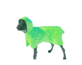 Dog Raincoat, Hooded Dog Raincoat, dog coat, unlined, lightweight dog raincoat, custom dog raincoat, dog jacket
