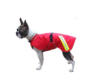Winter Dog Coat, custom dog coat, dog coat made with tummy panel, reflective dog coat, waterproof dog coat