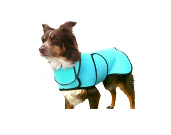 Dog Cool Coat with Dog Cool Collar, custom dog cool coat, dog chamois coat, adjustable dog cool coat, dog coat