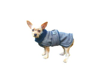 Fashion Dog Coat, retro dog jacket, custom dog coat, warm dog coat with collar made made just for your dog