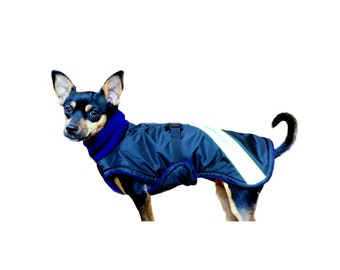 SALE!!! Readymade Winter Dog Coat, dog coat with tummy panel, fleece turtleneck, dog snood, waterproof dog coats